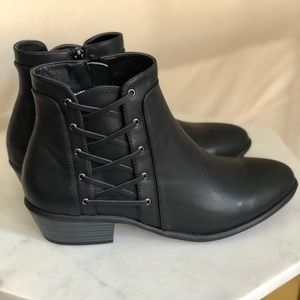 Charlotte Russe Lace Up Ankle Booties